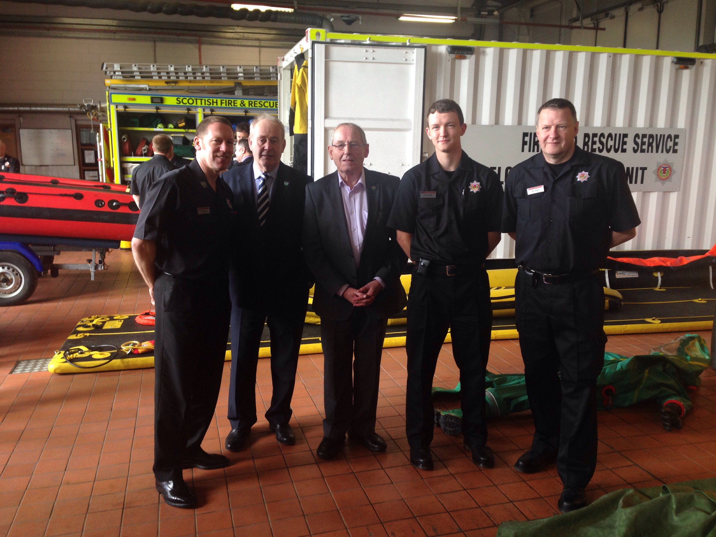 SFRS and Police stage engagement event for Moray elected members