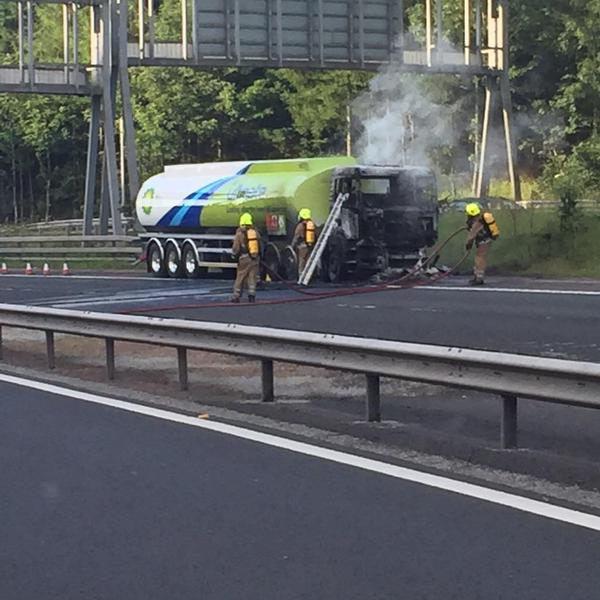 SFRS crews responded to M90 tanker fire at Perth