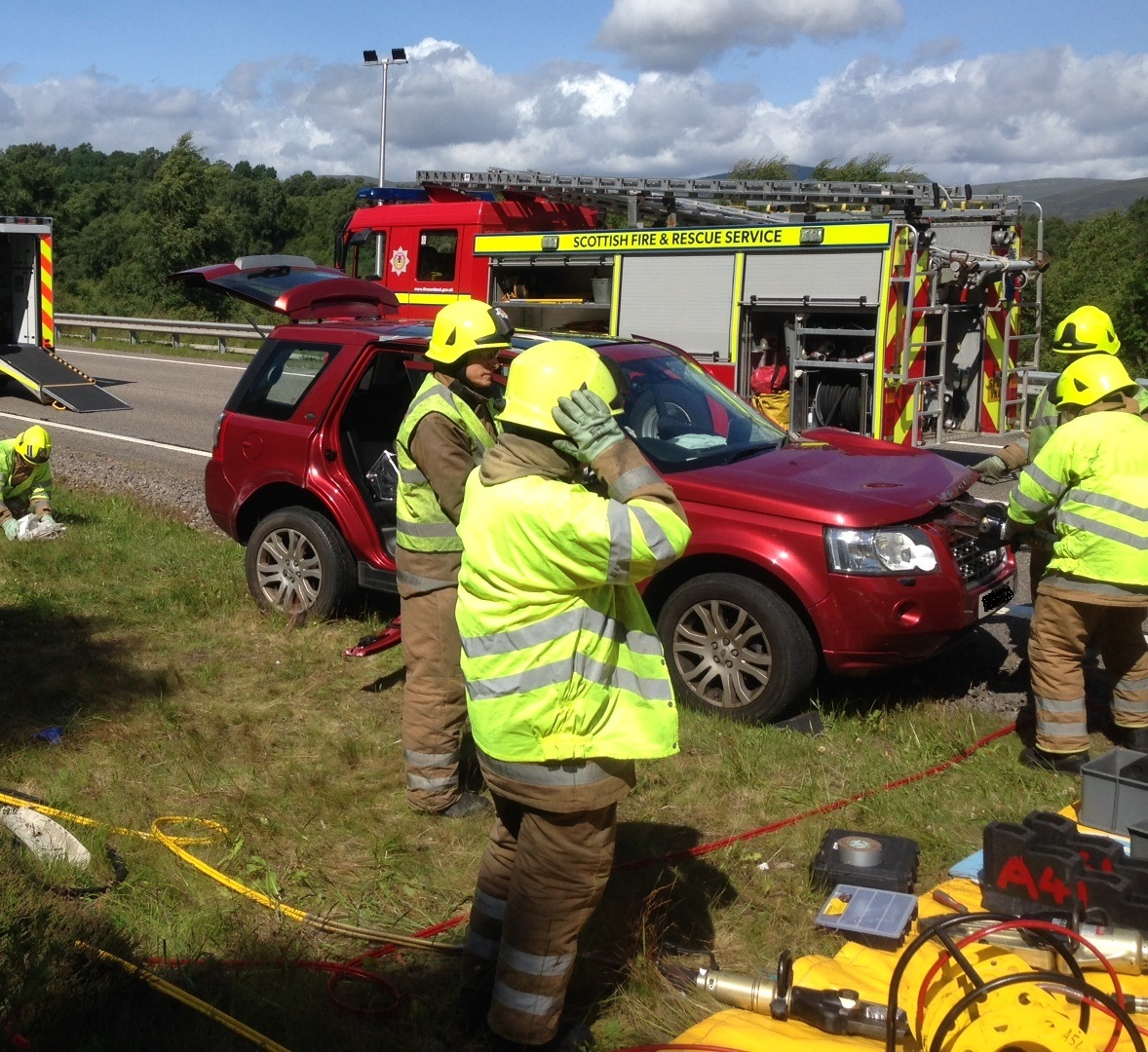 SFRS attended two vehicle collision on A9 near Kingussie