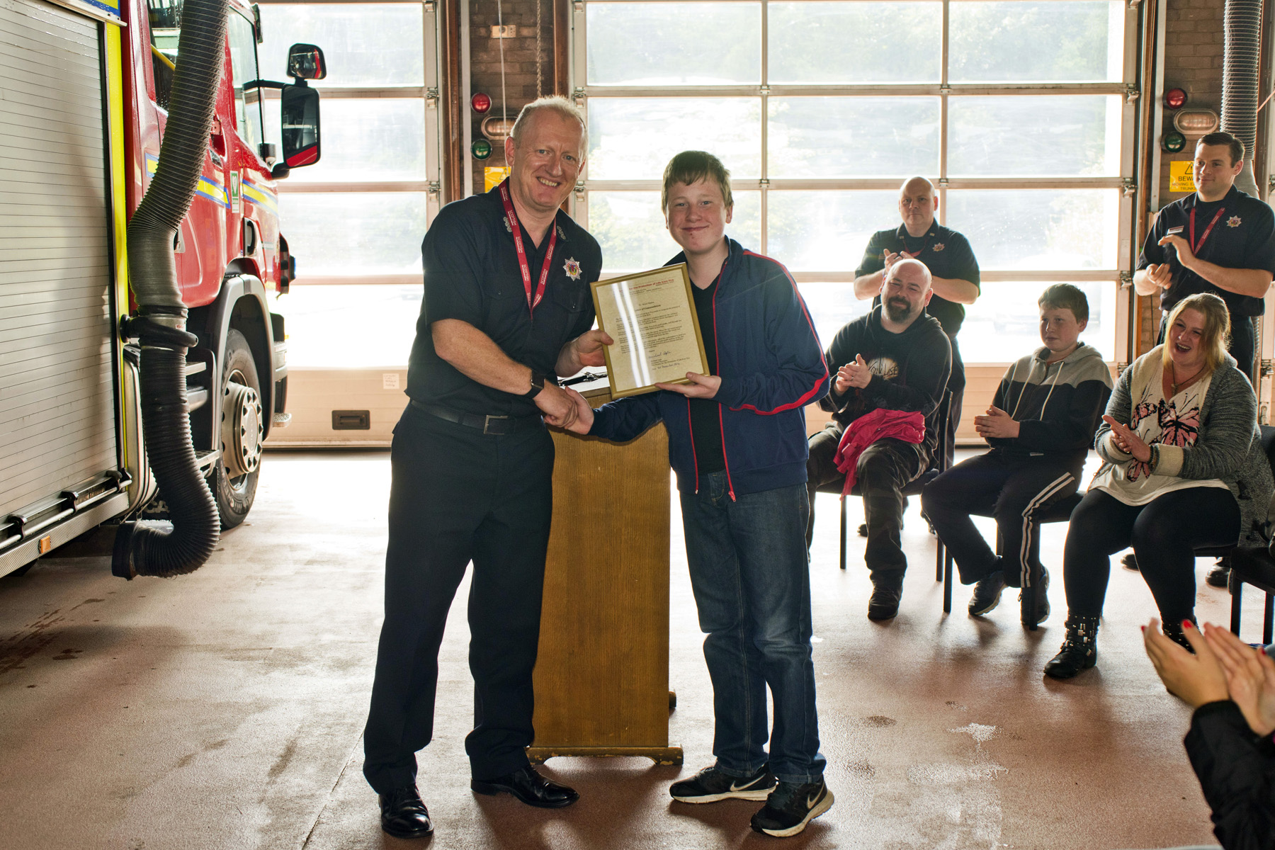 Recognition for Livingston boy's quick actions