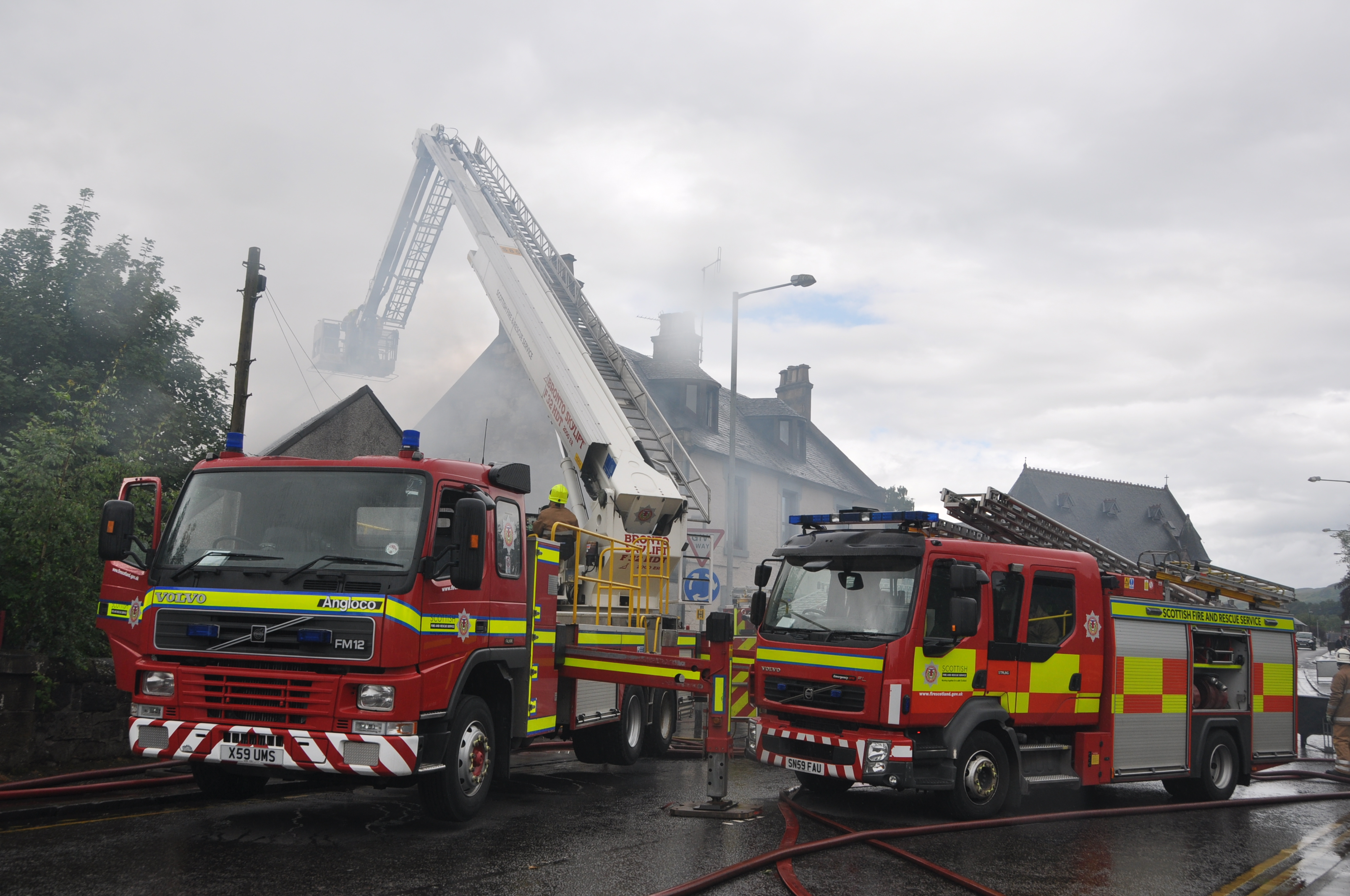 Crews responded to fire at industrial premise in Alloa