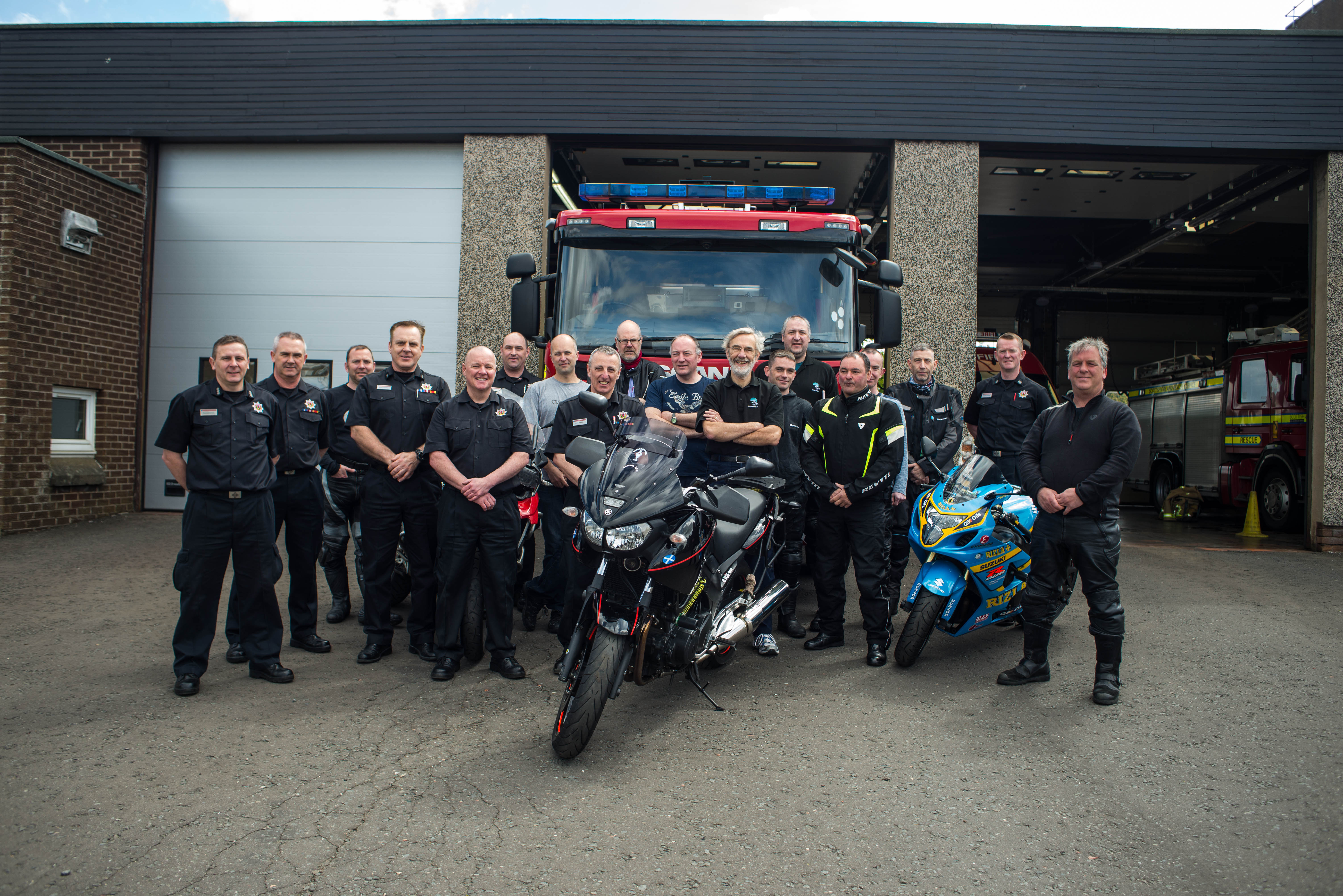 North Lanarkshire SFRS team hosts Scotland's first-ever Biker Down courses