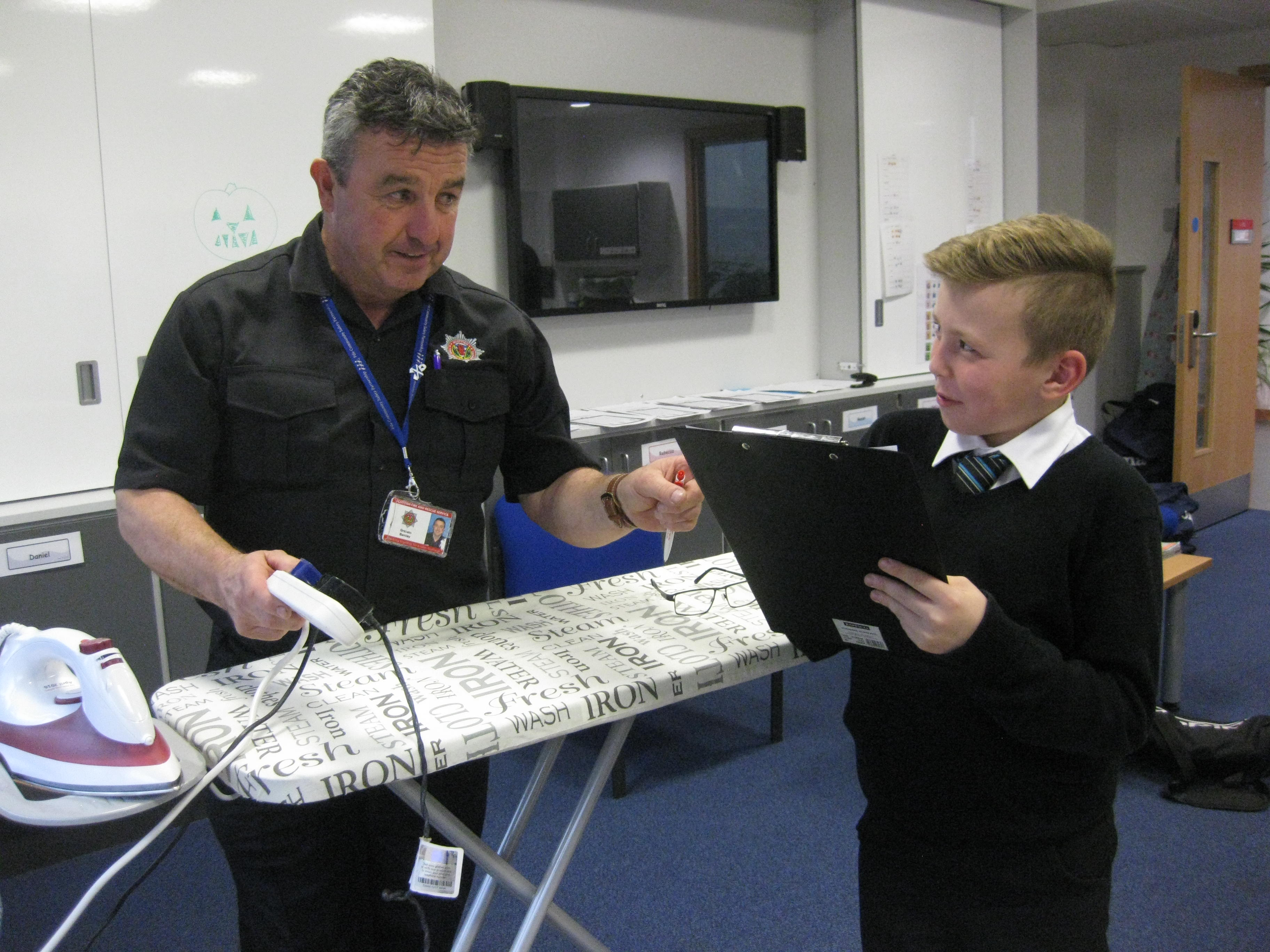 Auchmuty High School in Glenrothes enjoyed a fire safety day