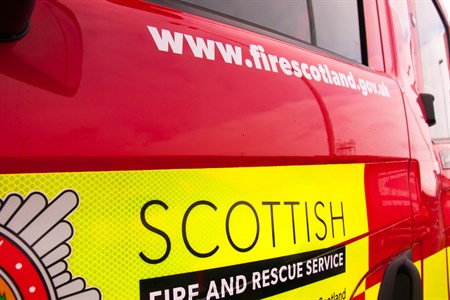 Womam rescued from house fire by firefighters in Falkirk