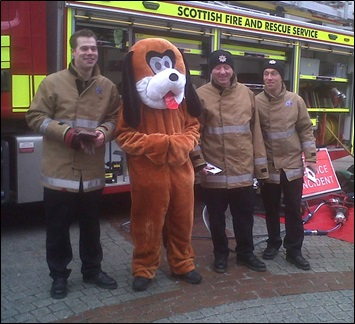 Blue Watch from Central in Aberdeen took part in winter safety event