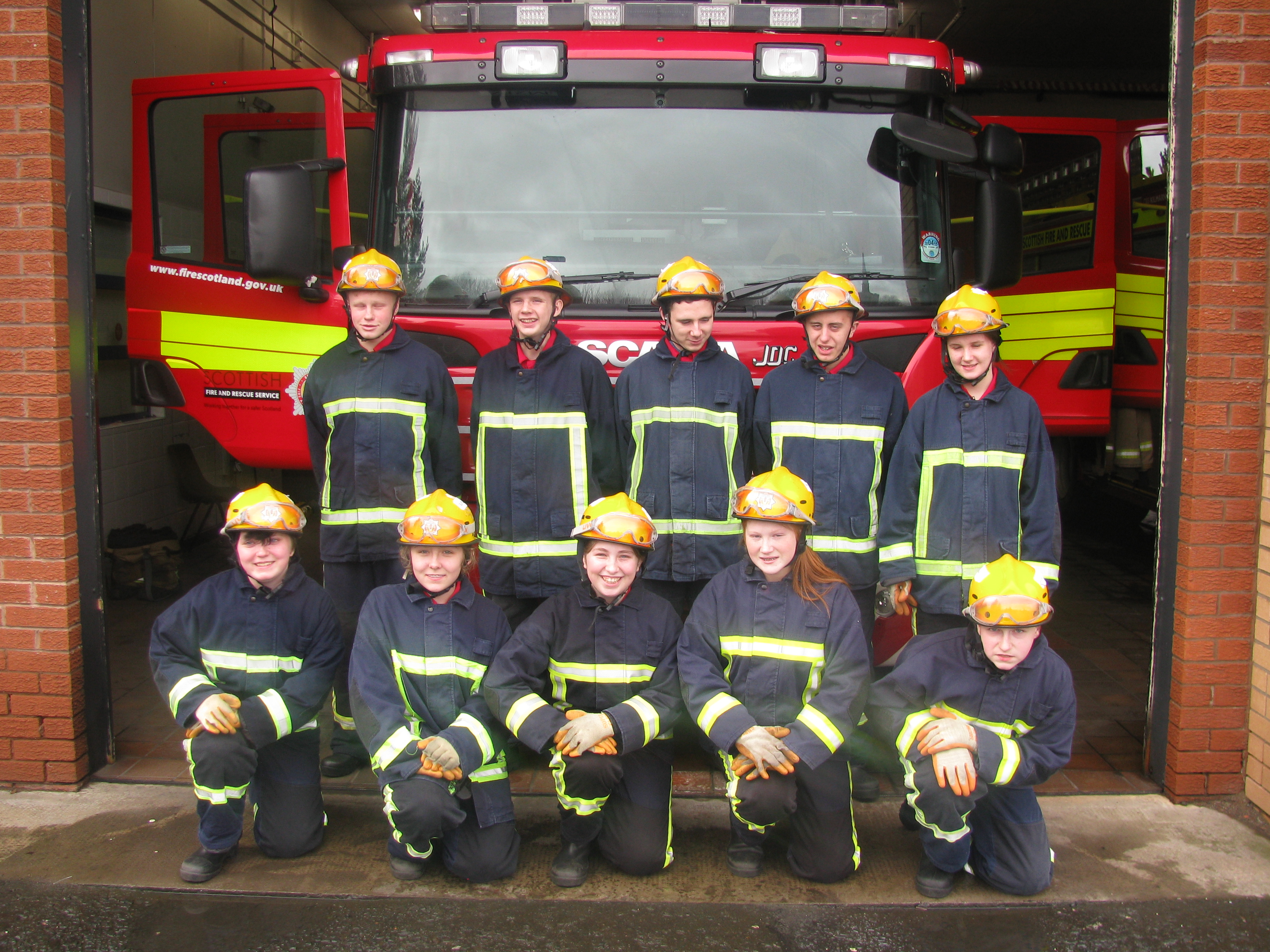"""Students praised as potential firefighters of future after performing """"outstanding"""" drill"""