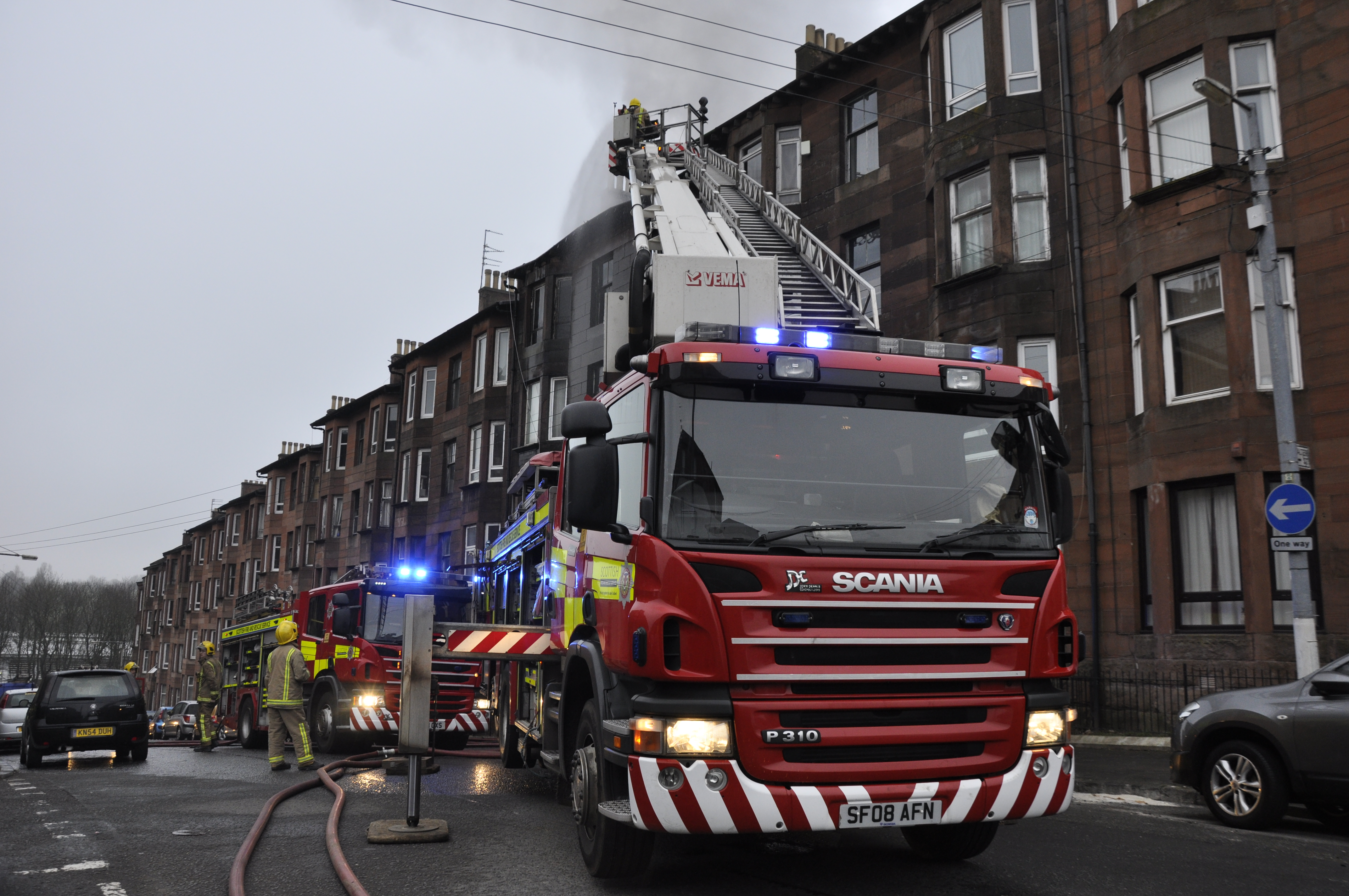 Crews remain at tenement fire in East End of Glasgow