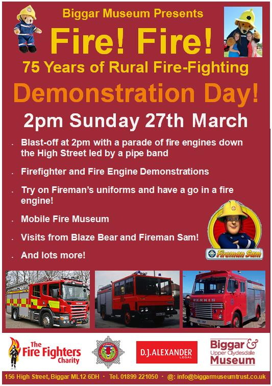 Firefighters to take part in demonstration day in Biggar