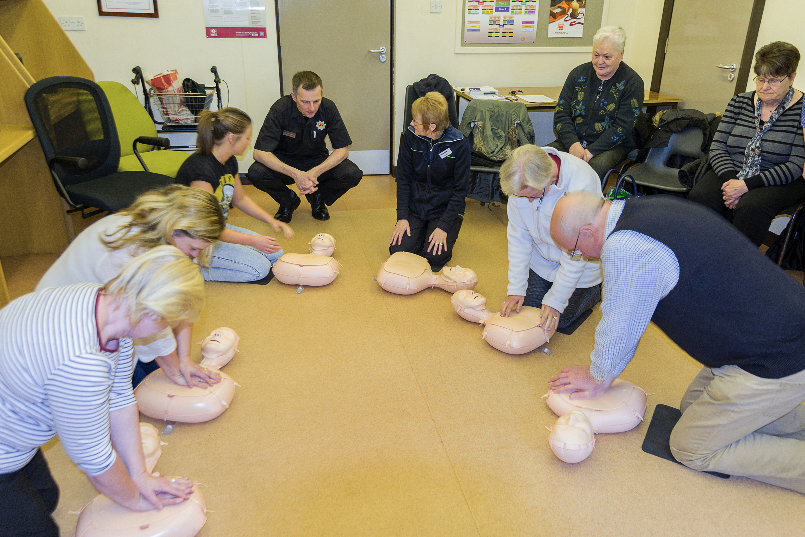 Successful CPR at Denny fire station