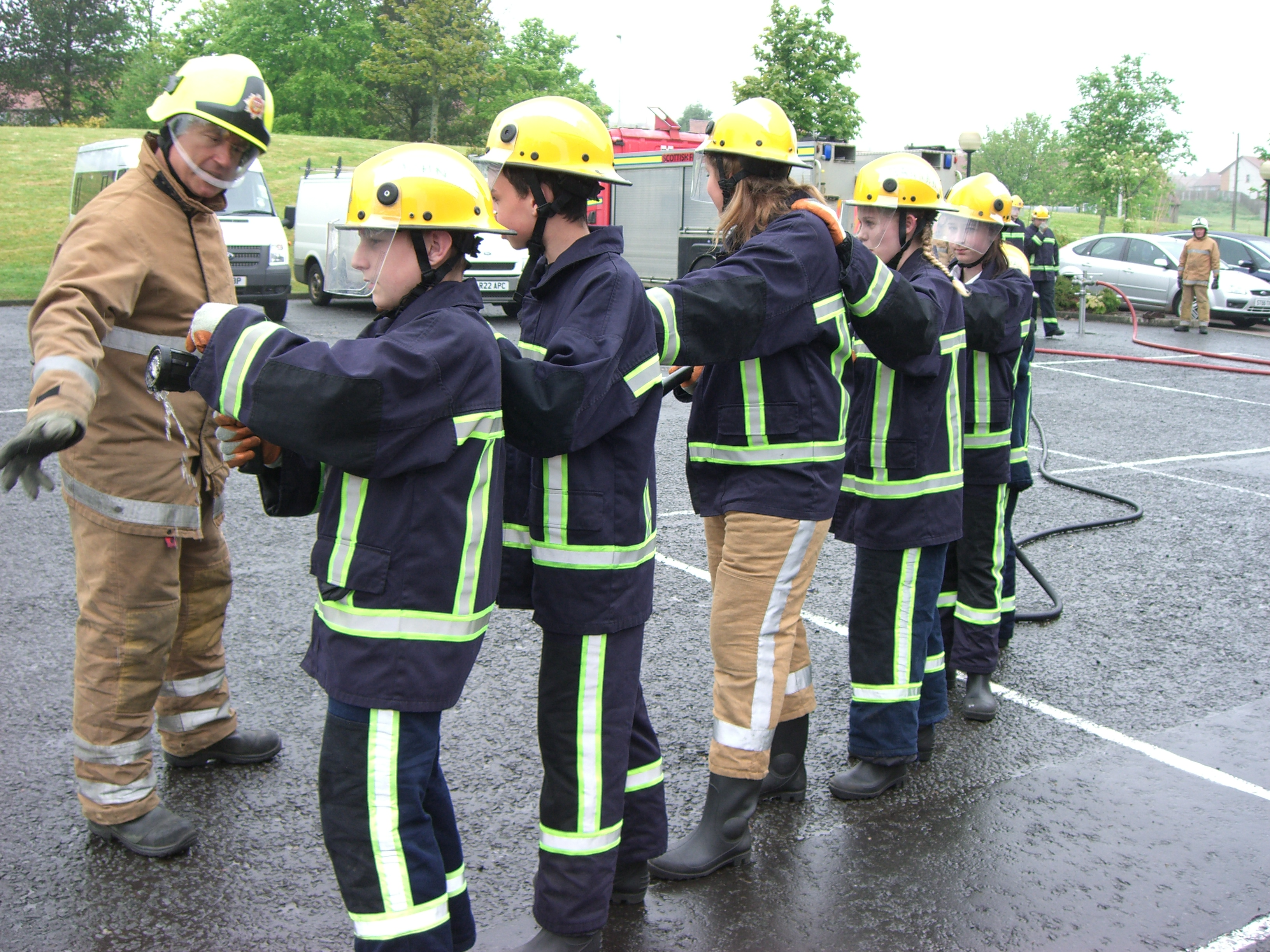 Youth engagement programme at Bathgate fire station