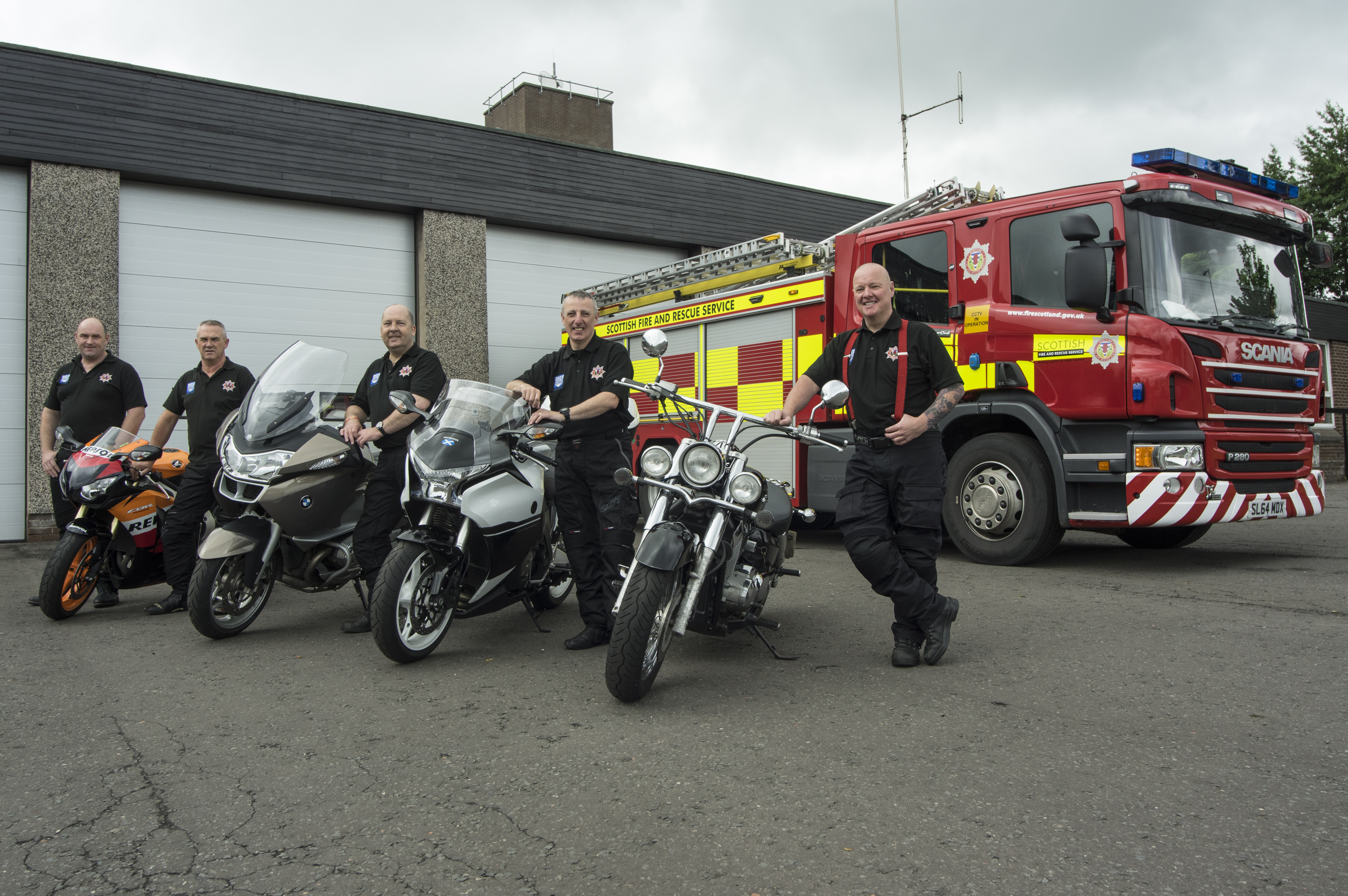 Firefighters work with bikers to help reduce injuries and death toll