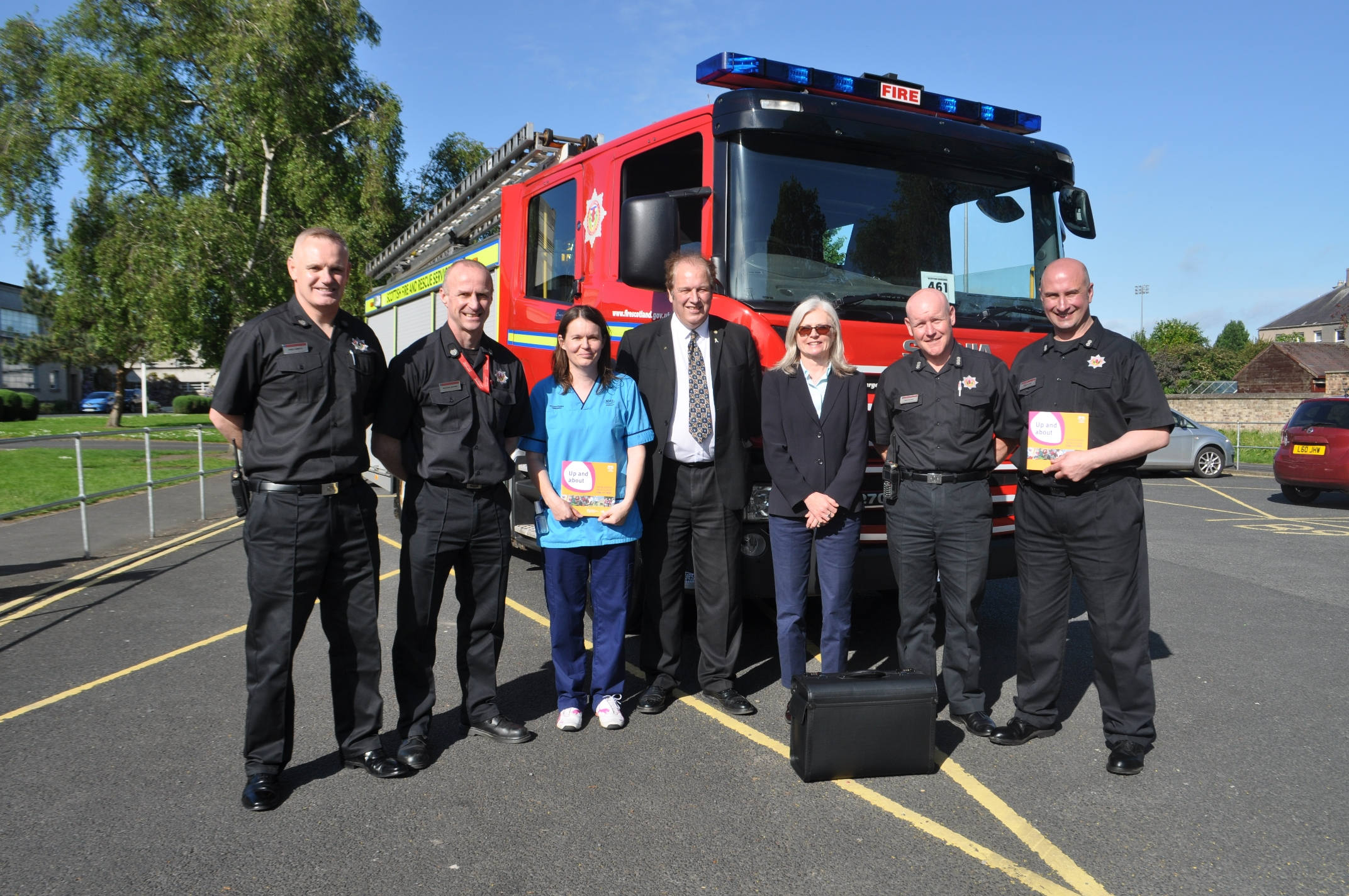 SFRS support Living Safely in the Home initiative in Borders