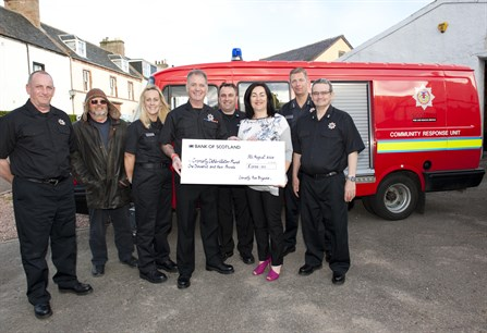 Cromarty Fire Service Charity Cheque