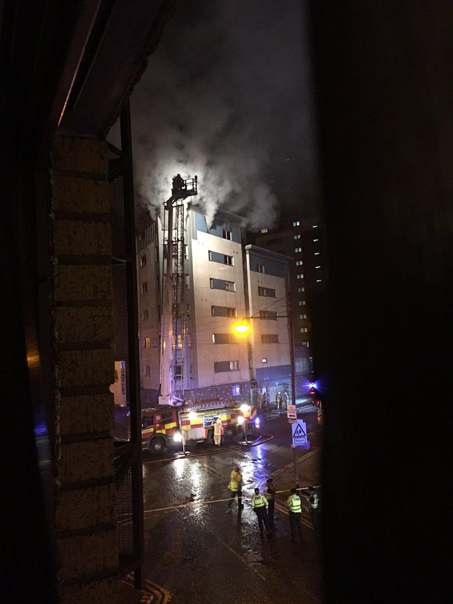 Blaze in Glasgow multi-storey