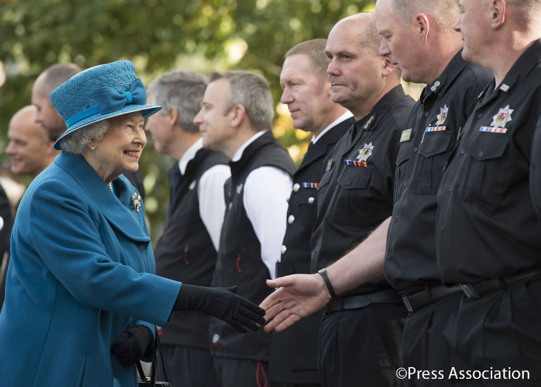 Her Majesty meets SFRS crews in Ballater