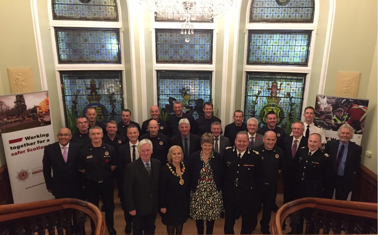 Chief Officer visited Inverness to recognise long service and retirements