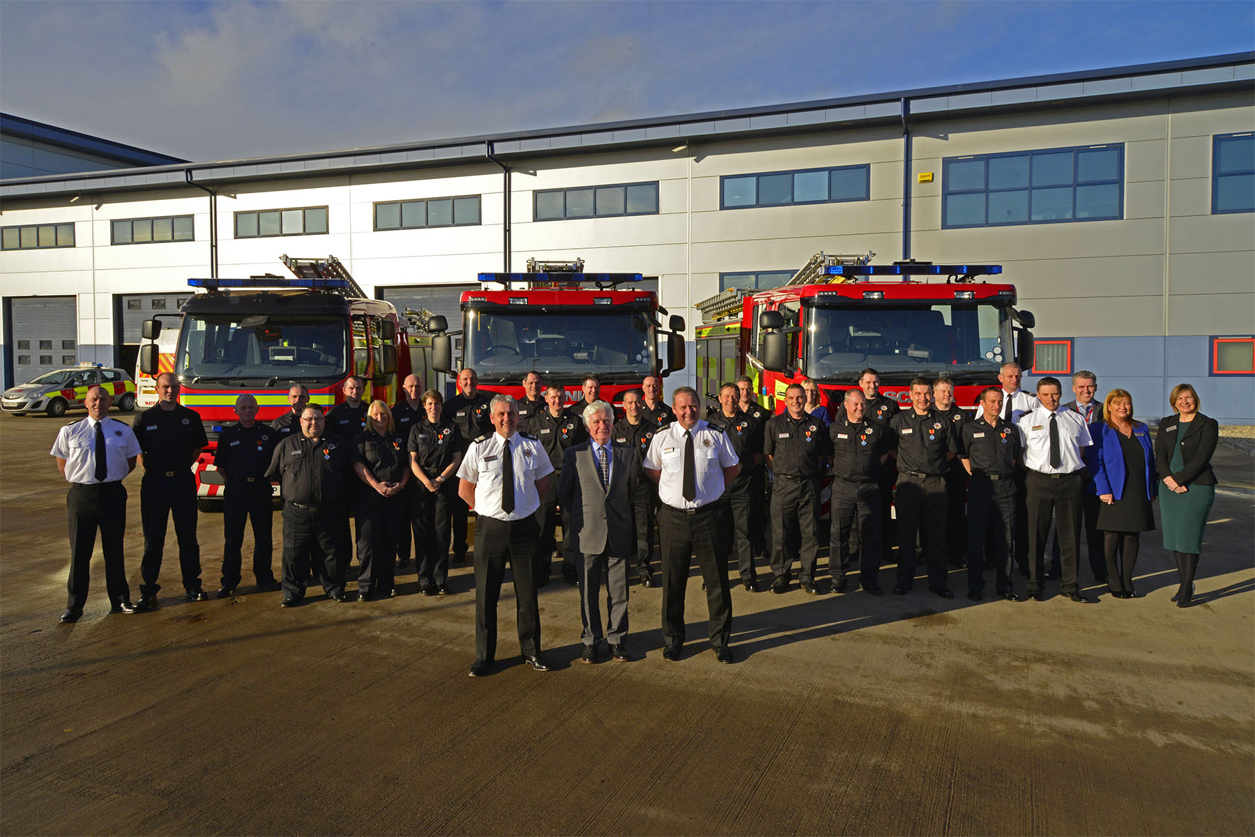 Firefighters recognised for long service