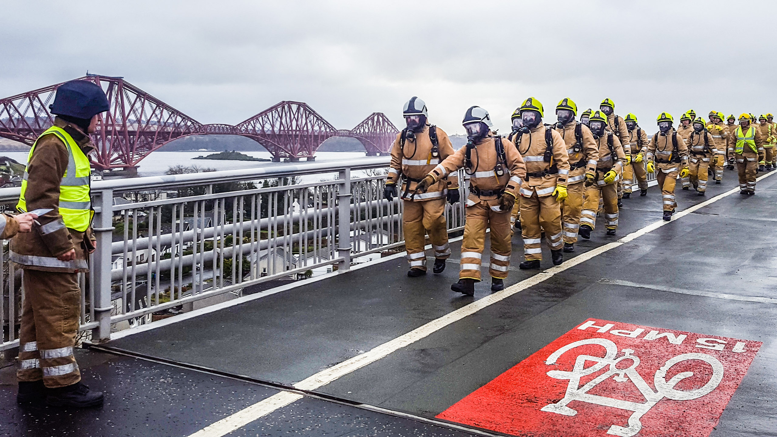 Firefighters go Forth in full BA kit