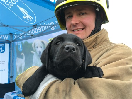 FF John Wilson and Guide Dog Puppy