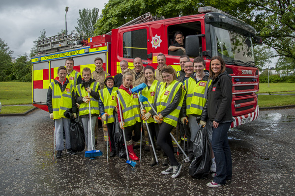 Firereach youngsters do their bit for Glasgow