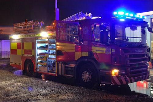 South Lanarkshire kitchen fire injures man