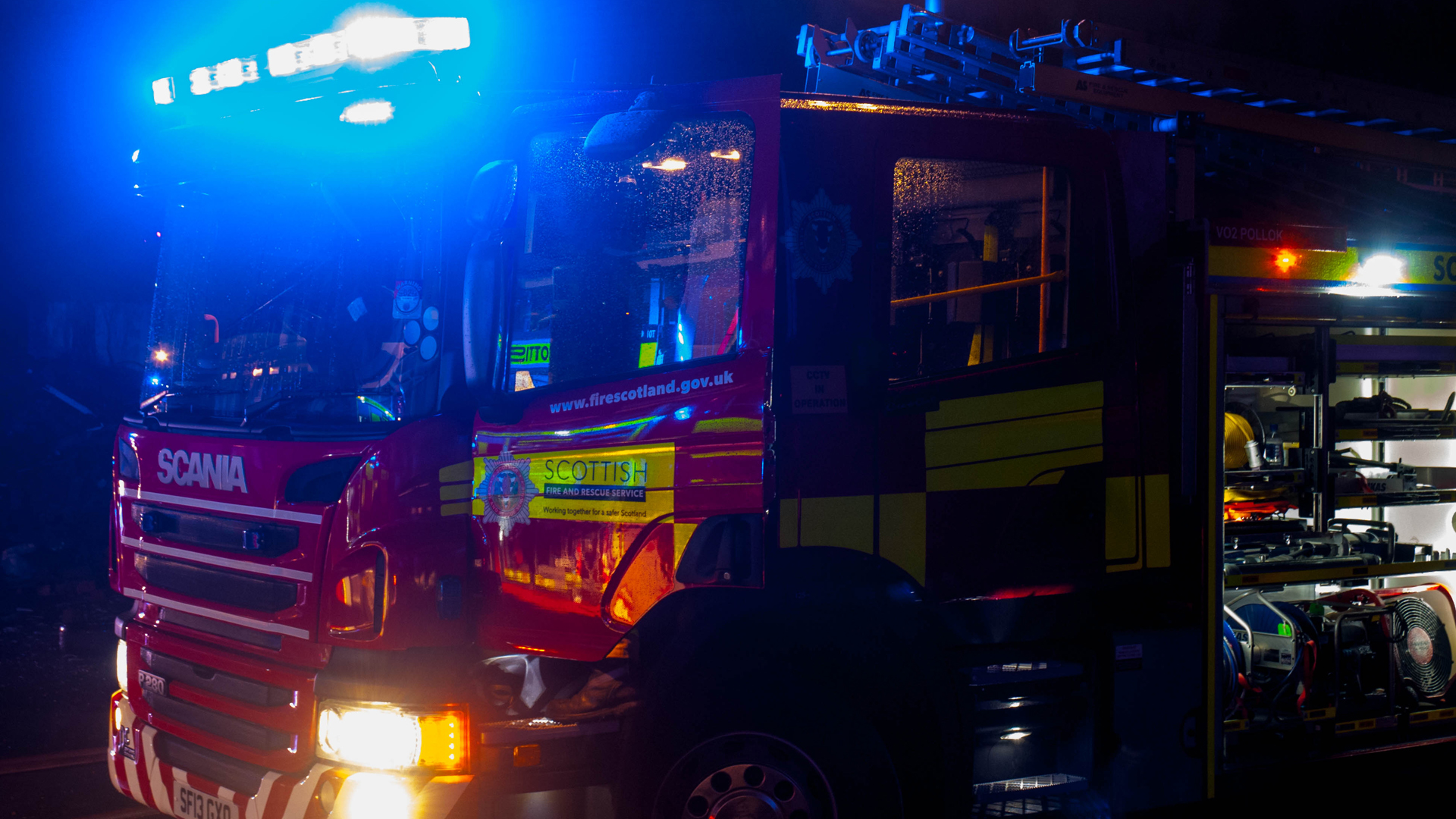 Baby and two men taken to hospital after Greenock fire