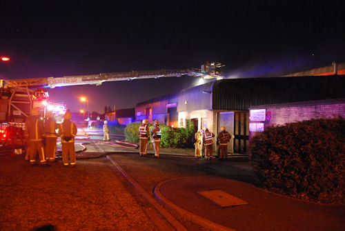 Glasgow industrial unit fire