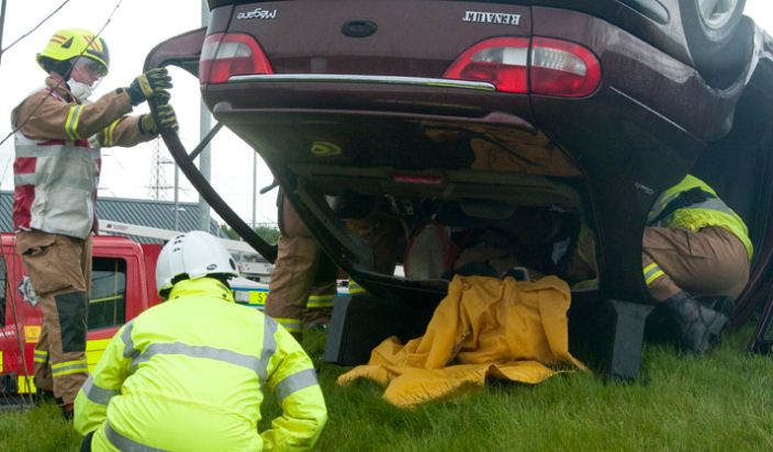 Road rescue in South Lanarkshire