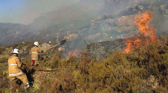 Significant wildfire in the Highlands