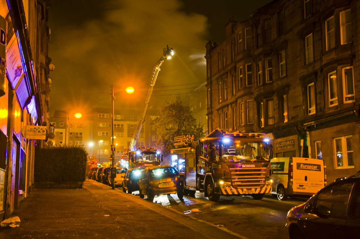 Firefighters rescue eight people from Glasgow tenement