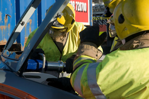Firefighters in Glasgow motorway rescue