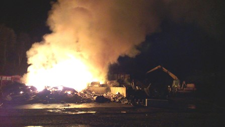 Scrap Yard Fire Aviemore