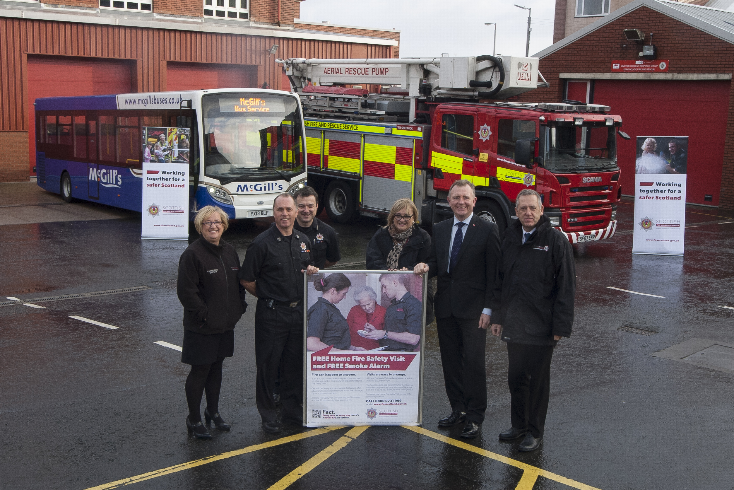 Partnership ensures fire safety travels