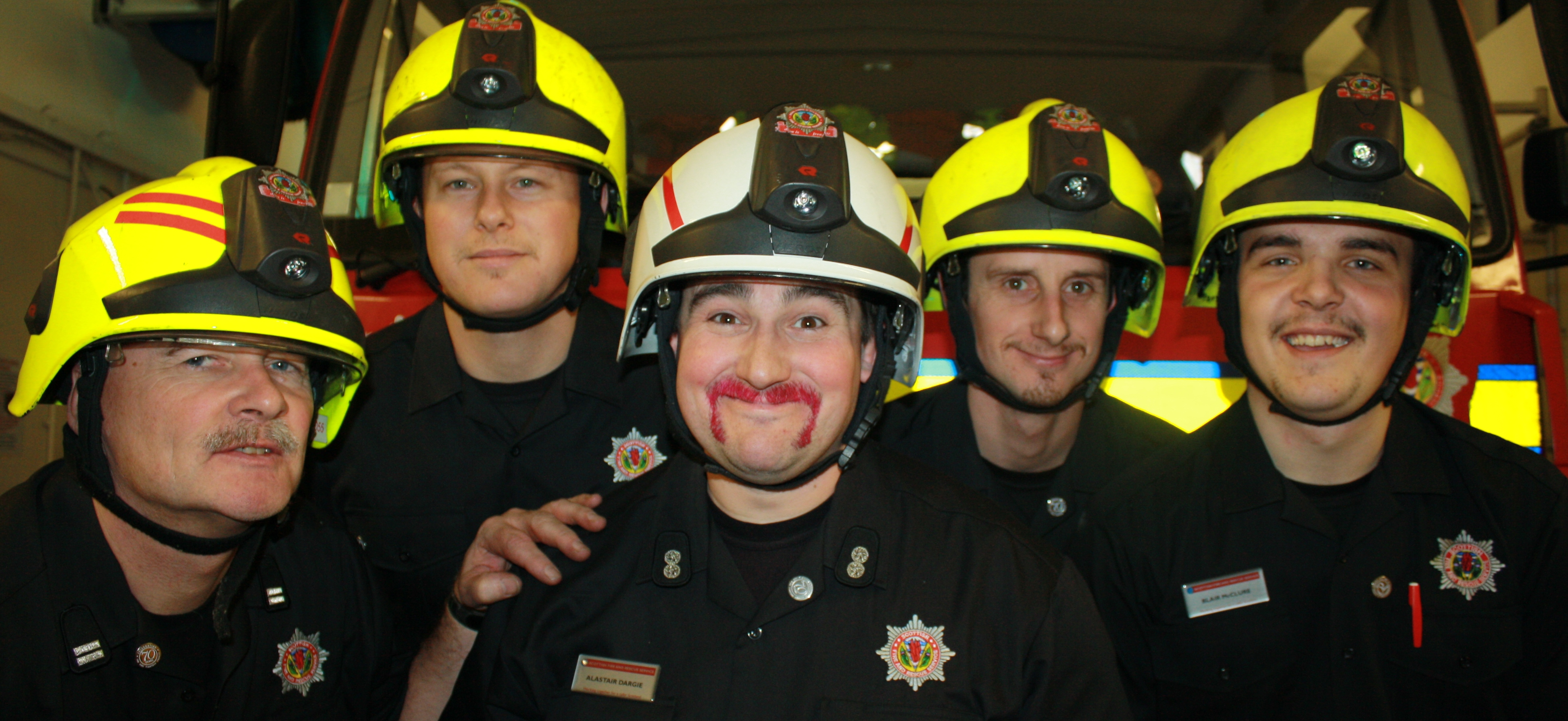 Aviemore crews raise almost £500 for charity during Movember