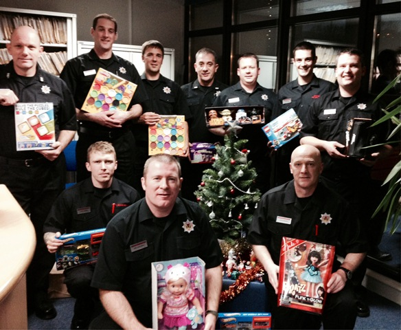Aberdeen's Central Fire Station staff show big hearts at Christmas