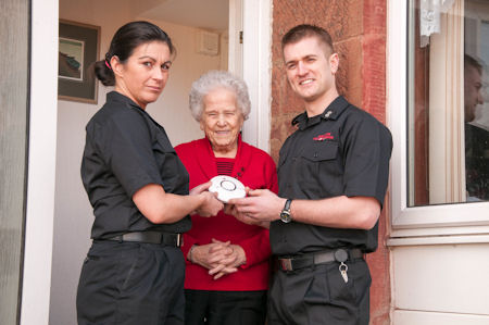 Huge increase in delivery of Home Fire Safety Visits in Aberdeenshire making communities safer