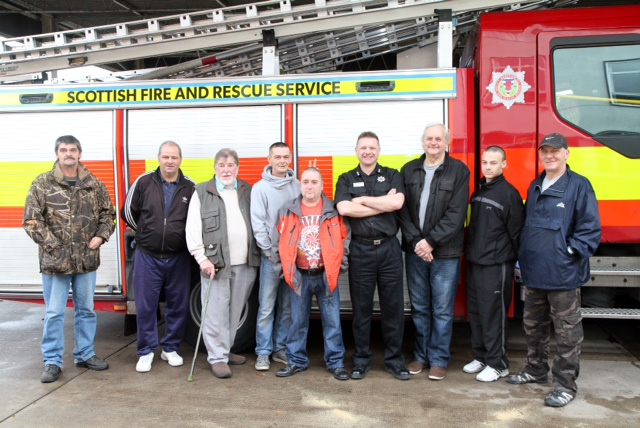 Man Up group from Alloa working with SFRS
