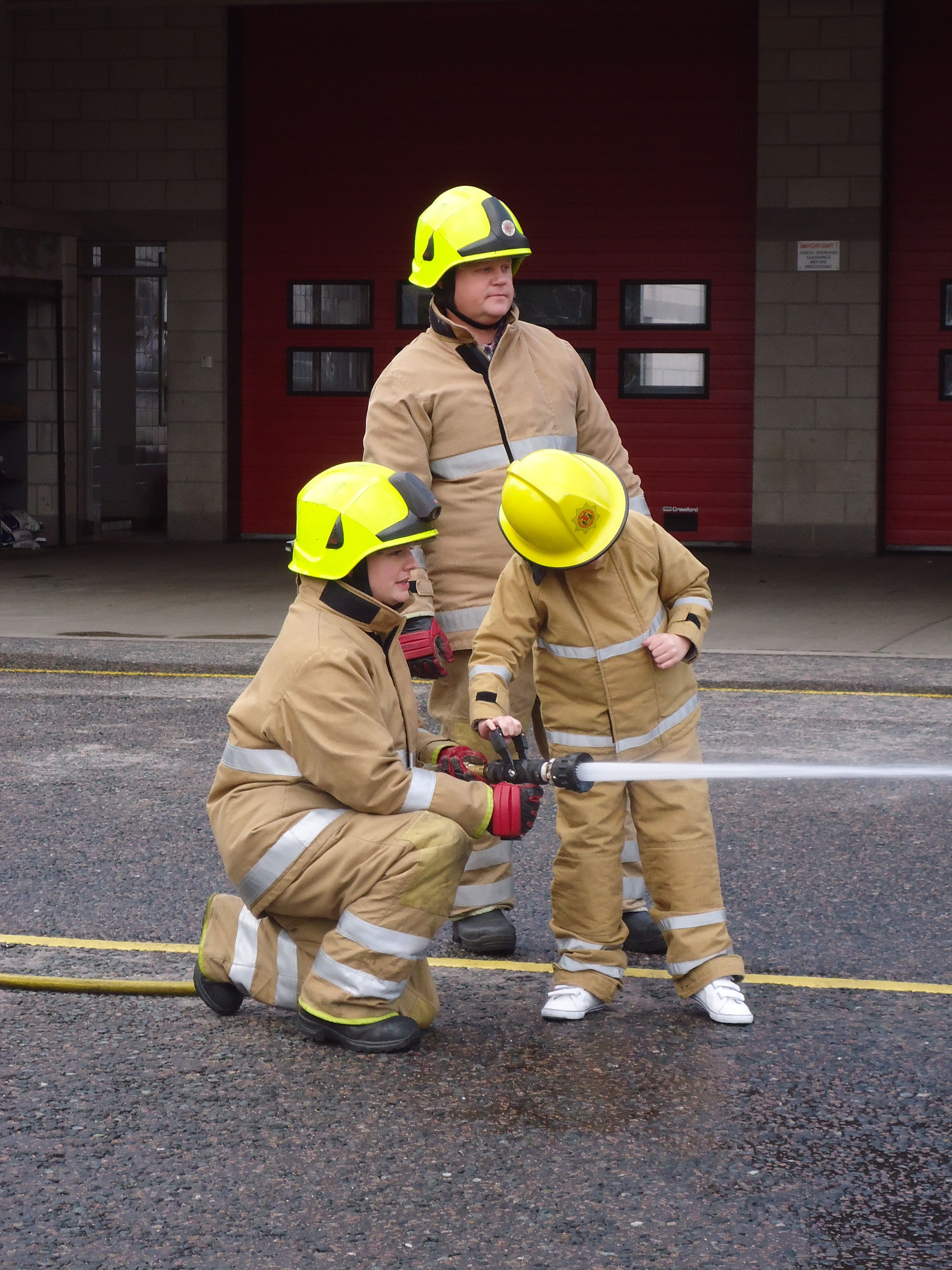 Central Fire Station in Aberdeen receives a star visitor