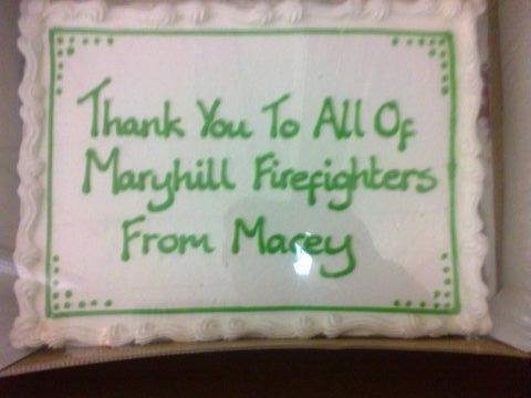 Maryhill firefighters help local toddler put her best foot forward