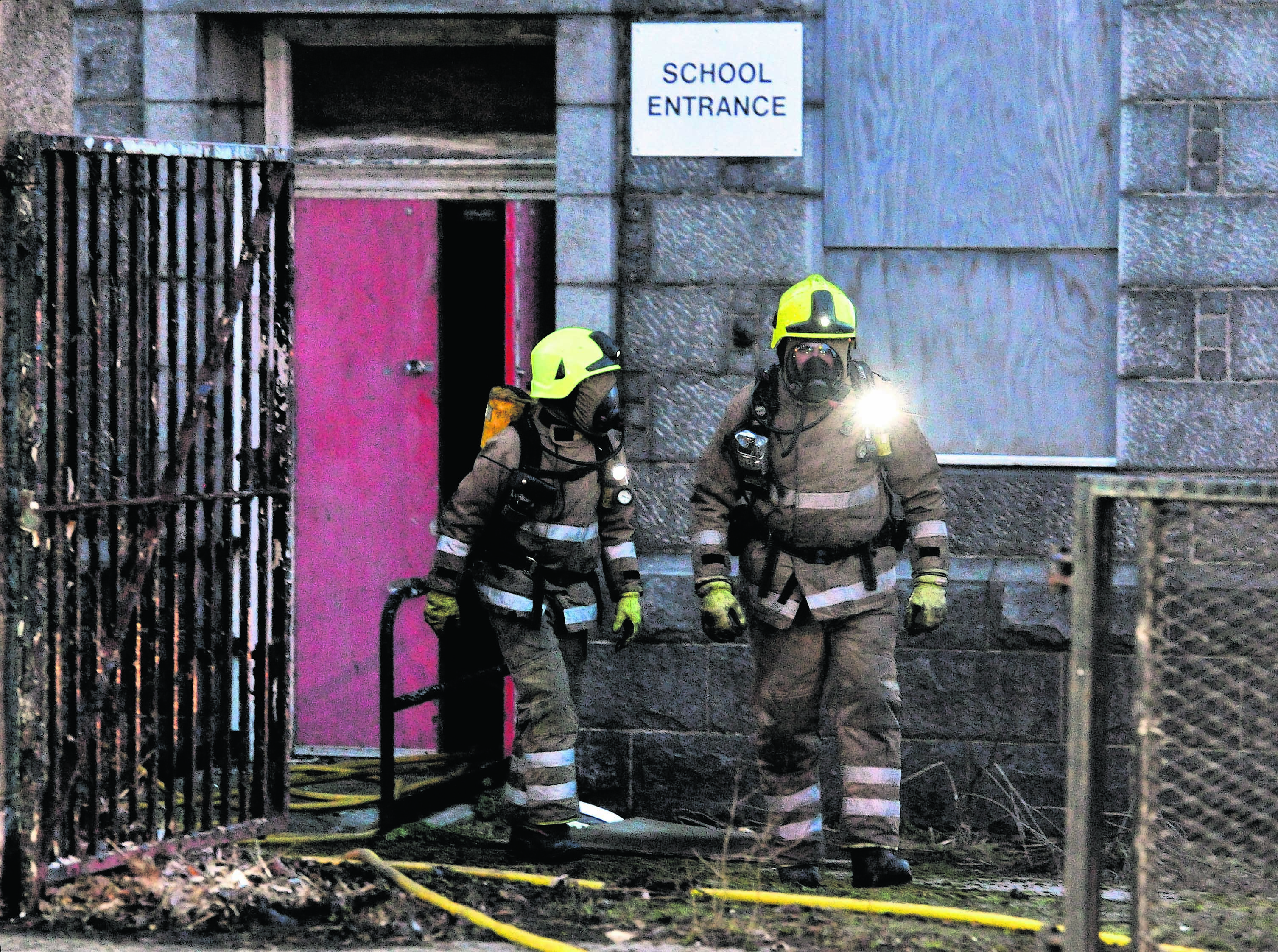 Fire at disused school in Aberdeen