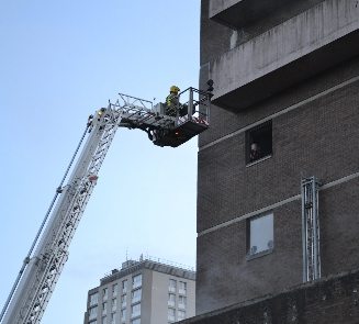 Crane operator rescued by SFRS in Aberdeen