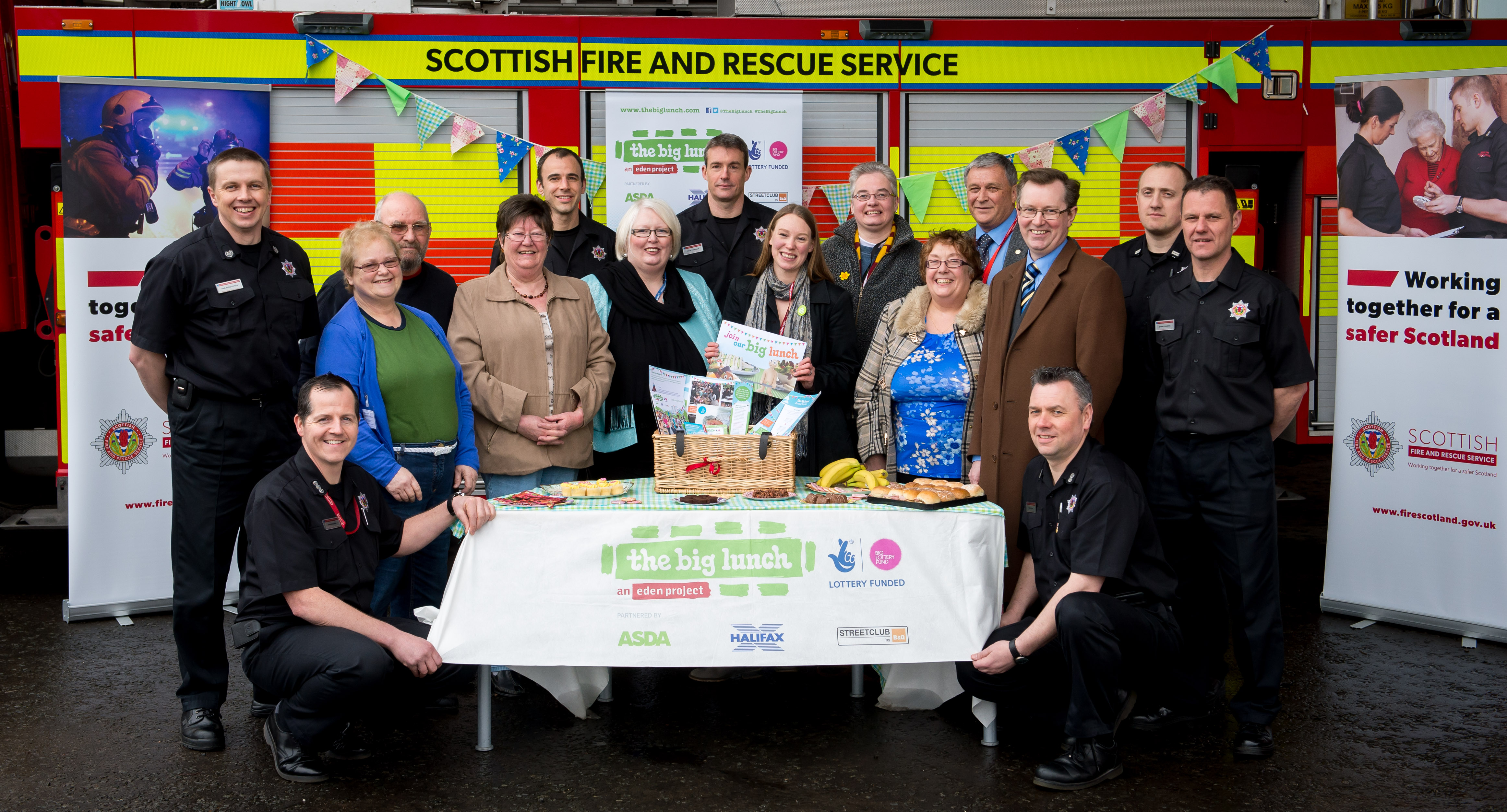 Perth's friendly fire service crew launch plans for Big Lunch