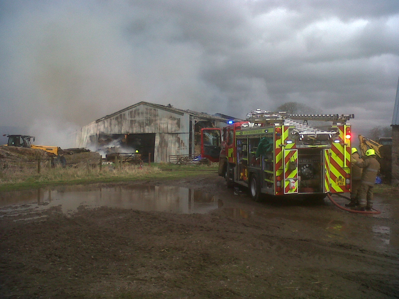 SFRS still at scene of large fire near Perth