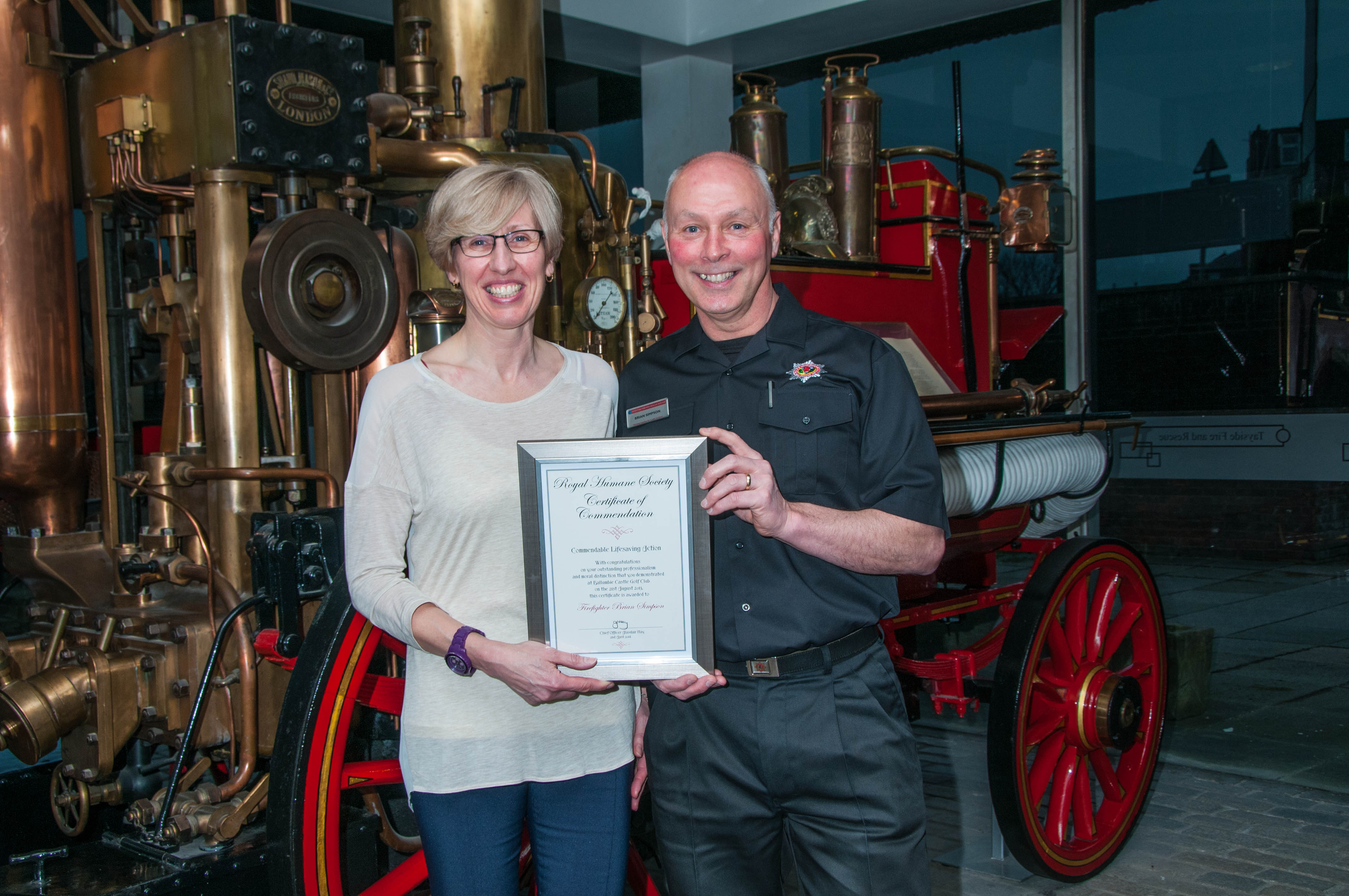 Dundee firefighter honoured after saving man's life