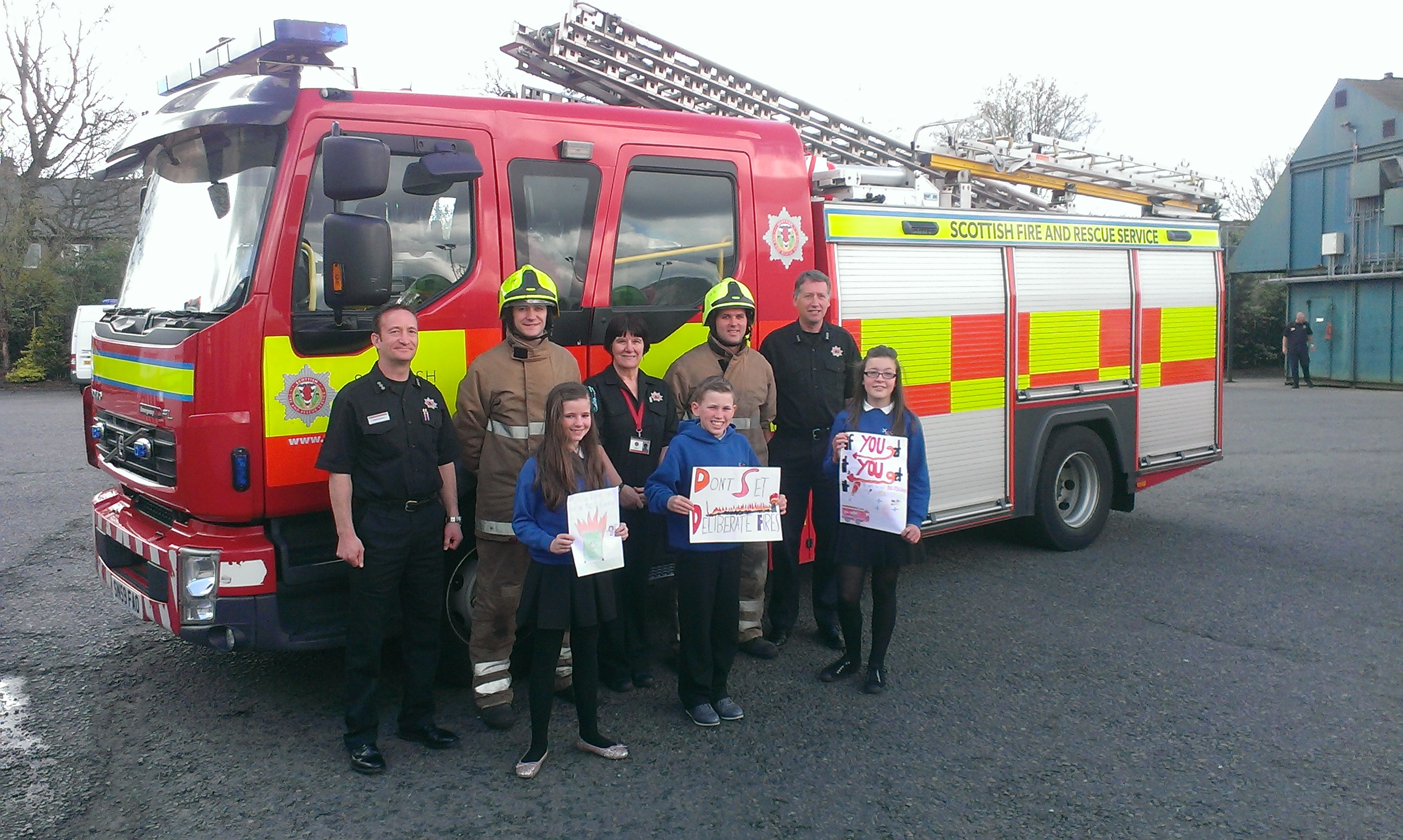 Firefighters at Falkirk fire station are warning the kids of the dangers of deliberate fires