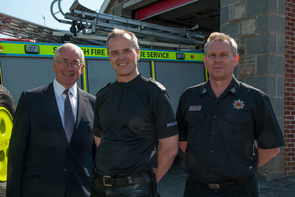 First tri-emergency service station in Scotland opens in Moray