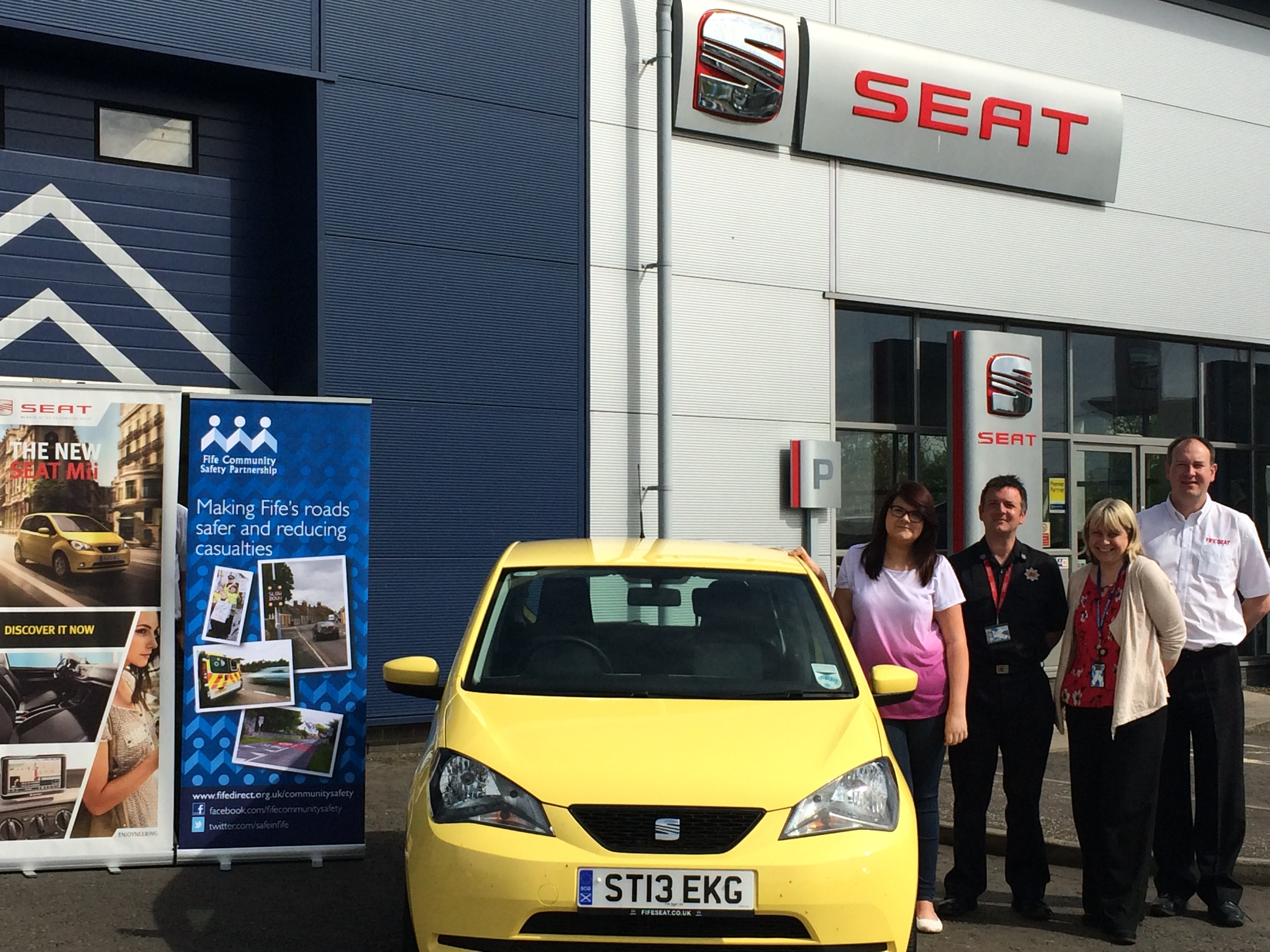 Glenrothes Car Retailer Fife SEAT are supporting Safe Drive Stay Alive for another year
