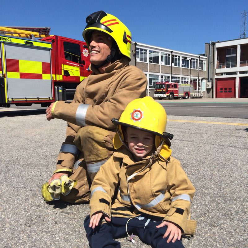 Firefighters in Aberdeen give seriously ill youngster a day to remember