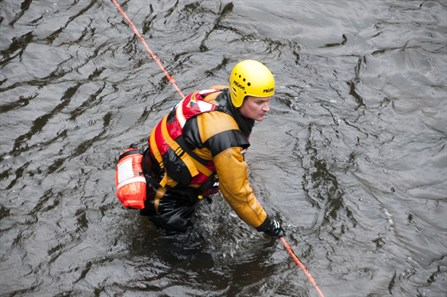 Water Training line rope rescue