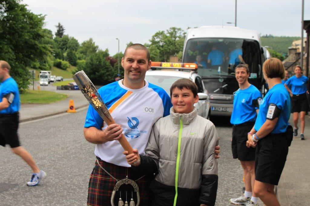 Day to remember for Rothes Watch Manager as he carries Queen's Baton